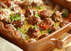 Al forno meatballs