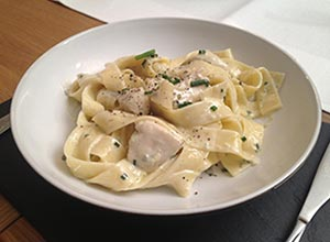 Chicken Dolcelatta with pappardelle