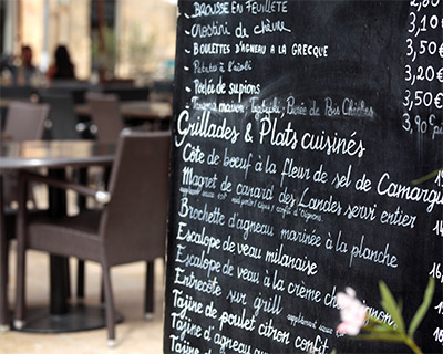 French menu words