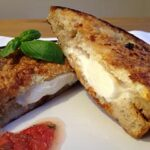 Fried mozzarella sandwich