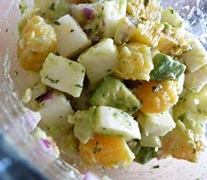 Jicama, orange and avocado salad