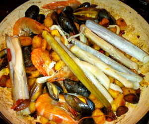 Roasted seafood gnocci