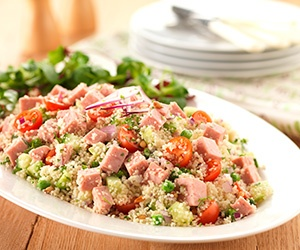 Spam salad with pine nuts