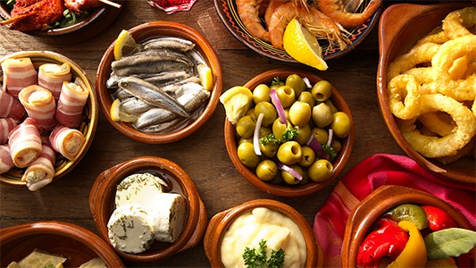 A selection of Tapas in Spain