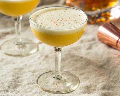 Bourbon Flip cocktail