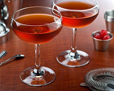 Brandy Manhattan cocktail