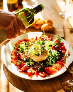 Caprese salad with burrata