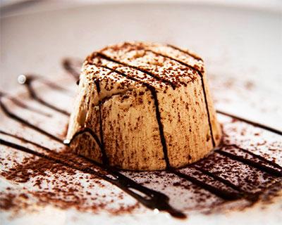 Semifreddo with walnut and chocolate
