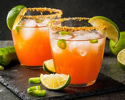 Spicy Michelada cocktail